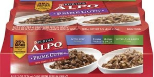 ALPO Wet Dog Food, Prime Cuts in Gravy Variety Pack, 13.2 oz Cans, Pack of 12