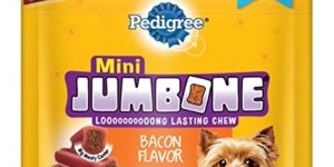 Pedigree Jumbone Bacon Flavor Mini Treats For Dogs 6.34 Ounces, 10 treats